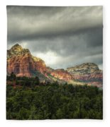 The Red Rocks Of Sedona  Fleece Blanket