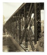 The Retired Railroad Bridge Fleece Blanket