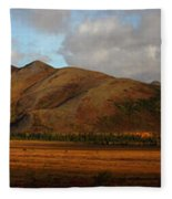 The Richardson Mountains At The Arctic Fleece Blanket