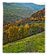 The Road To Glady Wv Painted Fleece Blanket