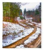 The Road To Spring Fleece Blanket