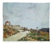 The Road To The Citadel At Villefranche Fleece Blanket