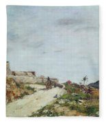 The Road To The Citadel At Villefranche Fleece Blanket