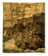The Rock In Dubrovnik Fleece Blanket