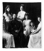 The Romanovs, Russian Tsar With Family Fleece Blanket