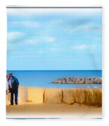 The Romantic Beach Fleece Blanket