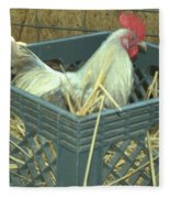 The Rooster That Laid A Golden Egg Fleece Blanket