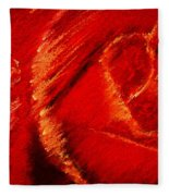 The Rose II Fleece Blanket