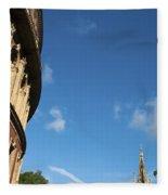 The Royal Albert Hall And Albert Memorial Fleece Blanket
