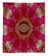 The Sacred Orchid Mandala Fleece Blanket