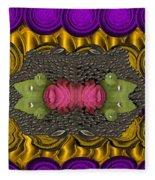 The Sacred Pond Pop Art Fleece Blanket