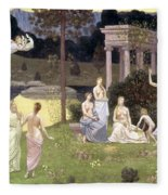 The Sacred Wood Cherished By The Arts And The Muses Fleece Blanket