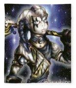 The Sapphire Of Fate Fleece Blanket
