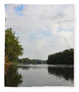 The Schuylkill River At West Conshohocken Fleece Blanket