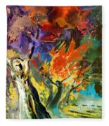 The Scream 02 Fleece Blanket