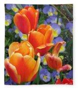 The Secret Life Of Tulips - 2 Fleece Blanket