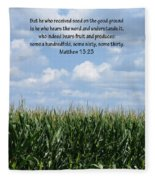 The Seed In Good Ground Fleece Blanket