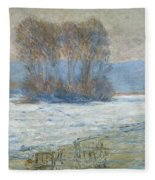 The Seine At Bennecourt Fleece Blanket