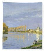 The Seine At Bougival Fleece Blanket