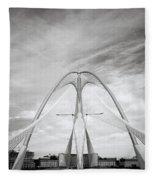 The Seri Wawasan Bridge In Purajaya In Malaysia Fleece Blanket