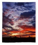 The Sky Is On Fire  Fleece Blanket