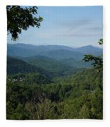 The Smoky Mountains Fleece Blanket