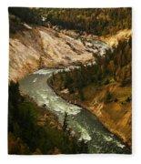 The Snaking Yellowstone Fleece Blanket