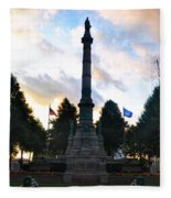 The Soldiers And Sailors Monument In Lafayette Square  Fleece Blanket