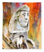 The Sphinx Of Petraion Fleece Blanket