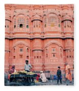Street Life Of India Fleece Blanket