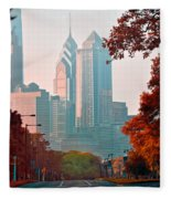 The Streets Of Philadelphia Fleece Blanket