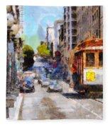 The Streets Of San Francisco . 7d7263 Fleece Blanket