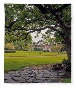 The Sundial Terrace, Glin Castle, Co Fleece Blanket