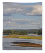 The Susquehanna River At Kingston Pa. Fleece Blanket