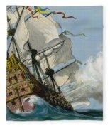 The Swedish Warship Vasa Fleece Blanket