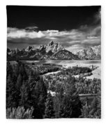 The Tetons Fleece Blanket