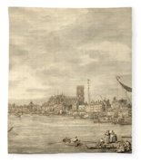 The Thames Looking Towards Westminster From Near York Water Gate  Fleece Blanket