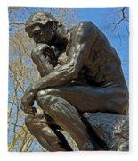 The Thinker By Rodin Fleece Blanket