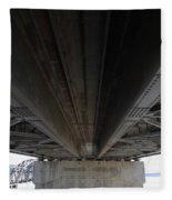 The Three Benicia-martinez Bridges In California - 5d18842 Fleece Blanket