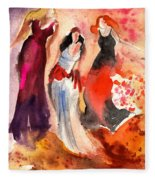The Three Muses From Paphos Fleece Blanket