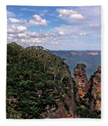 The Three Sisters - The Blue Mountains Fleece Blanket