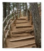 The Trail To The Top Fleece Blanket