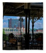The Trainstation In Nashville Fleece Blanket