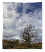 The Tree At The Side Of The Road Fleece Blanket