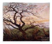 The Tree Of Crows Fleece Blanket