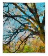 The Tree Of Many Colours  Fleece Blanket