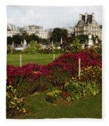 The Tuilleries Garden In Paris Fleece Blanket