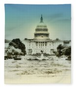 The United States Capital Building Fleece Blanket