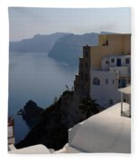 The View At Fira Fleece Blanket