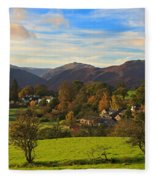 The Village Of Watermillock In Cumbria Uk Fleece Blanket
